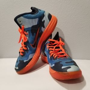 Nike Lunar Hypergamer Men Sz 10.5 Camo Blue Shoes